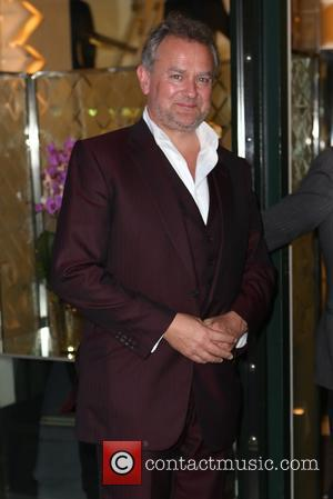 Hugh Bonneville - 'Downton Abbey' wrap party at The Ivy - Arrivals at The Ivy - London, United Kingdom -...