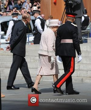 Queen Elizabeth II, Prince Philip , Duke of Edinburgh - The 70th Anniversary of VJ Day Service of Commemoration at...