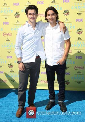 David Henrie , Lorenzo James Henrie - Celebrities attend Teen Choice Awards 2015 - Arrivals at USC Galen Center. at...