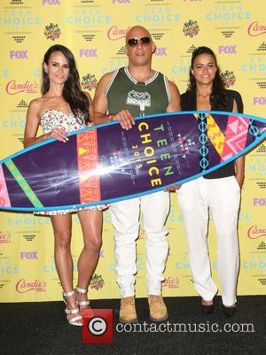 Jordana Brewster, Vin Diesel and Michelle Rodriguez