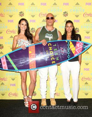 Jordana Brewster, Vin Diesel , Michelle Rodriguez - Teen Choice Awards 2015 - Press Room at Galen Center - Los...