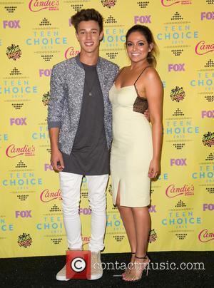 Cameron Dallas , Bethany Mota - Teen Choice Awards 2015 at USC Galen Center - Press Room at USC Galen...