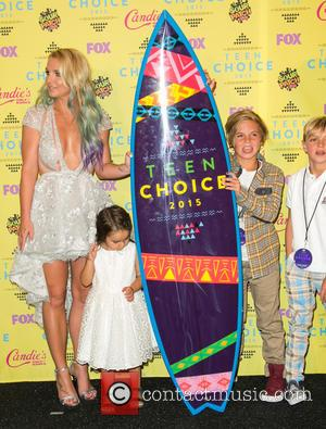 Britney Spears, Maddie Briann Aldridge, Sean Preston Federline and Jayden James Federline