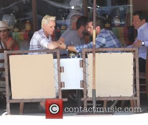 Brigitte Nielsen , Mattia Dessi - Brigitte Nielsen and Mattia Dessi have lunch at Il Pastaio in Beverly Hills -...