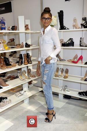Zendaya - Singer, actress, designer Zendaya debuts her brand new shoe collection 'Daya' at Magic Convention at Las Vegas Convention...