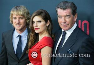Owen Wilson, Lake Bell , Pierce Brosnan - Celebrities attend Los Angeles Premiere of NO ESCAPE at Regal Cinemas LA...