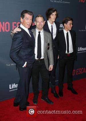 Pierce Brosnan, Sean Brosnan, Dylan Brosnan and Paris Brosnan
