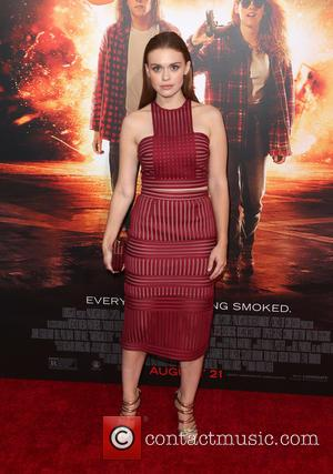 Holland Roden - Los Angeles premiere of 'American Ultra' at the Ace Theater - Red Carpet Arrivals at The Ace...