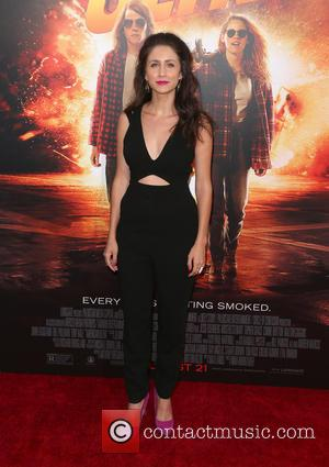 Courtney James Clark - Los Angeles premiere of 'American Ultra' at the Ace Theater - Red Carpet Arrivals at The...