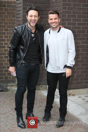 Joe McElderry - Antony Costa and Joe McElderry outside ITV Studios - London, United Kingdom - Tuesday 18th August 2015