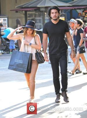 Lucy Hale , Anthony Kalabretta - Lucy Hale goes shopping with her boyfriend at The Grove in Hollywood - Los...