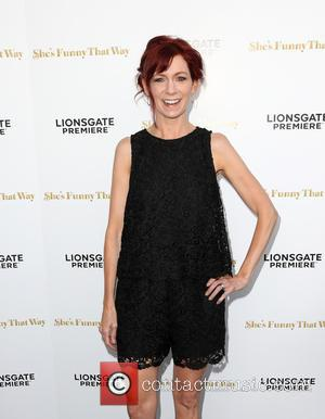 Carrie Preston - Los Angeles premiere 'She's Funny That Way' at Harmony Gold - Arrivals at Harmony Gold - Los...