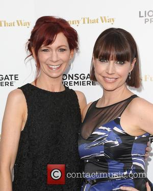 Carrie Preston , Julie Ann Emery - Los Angeles premiere 'She's Funny That Way' at Harmony Gold - Arrivals at...