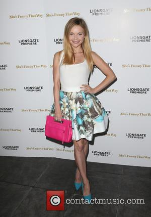 Izabella Miko - Los Angeles premiere 'She's Funny That Way' at Harmony Gold - Arrivals at Harmony Gold - Los...