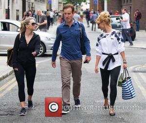 Ola Jordan, Anton du Beke , Aliona Vilani - Professional dancers of 'Strictly Come Dancing' outside the studios in London...