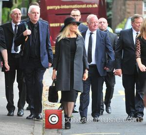 Carol Vorderman, Ted Robbins, Mike Mcartney , Les Dennis - Cilla Black was laid to rest in liverpool, - Cheshire,...