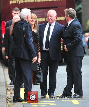 Les Dennis, Ted Robbins , Mike Mcartney - The funeral of Cilla Black at St Mary's Church - Cheshire, United...