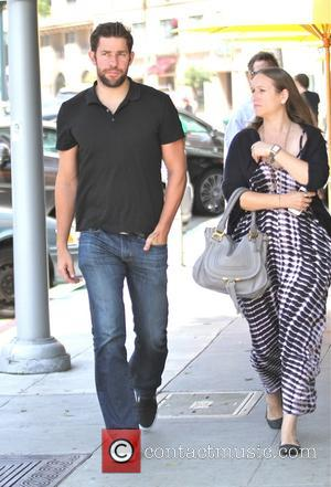 John Krasinski - John Krasinski has lunch in Beverly Hills with a female companion - Los Angeles, California, United States...
