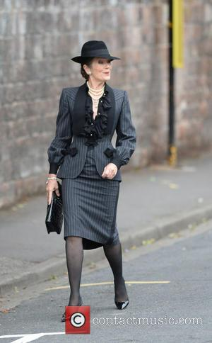 Lorraine Chase - The Funeral of Cilla Black at St Mary's Church - Liverpool, United Kingdom - Thursday 20th August...