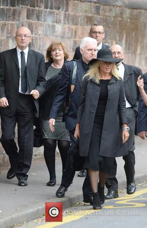 Carol Vorderman , Mike McCartney - The Funeral of Cilla Black at St Mary's Church - Liverpool, United Kingdom -...
