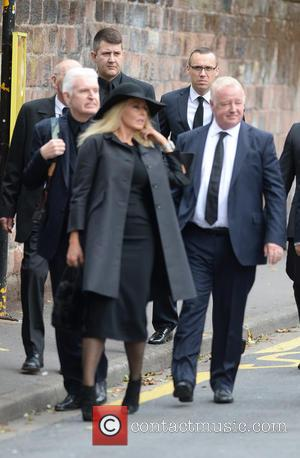 Carol Vorderman, Les Dennis , Mike McCartney - The Funeral of Cilla Black at St Mary's Church - Liverpool, United...