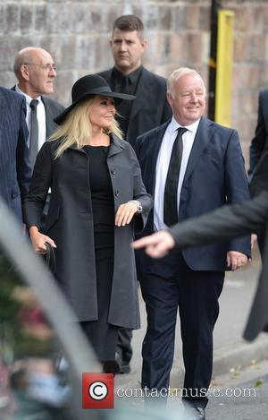 Carol Vorderman , Les Dennis - The Funeral of Cilla Black at St Mary's Church - Liverpool, United Kingdom -...