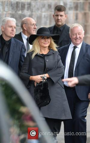 Carol Vorderman, Mike McCartney , Les Dennis - The Funeral of Cilla Black at St Mary's Church - Liverpool, United...