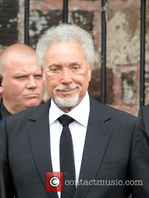 Sir Tom Jones - The Funeral of Cilla Black at St Mary's Church - Liverpool, United Kingdom - Thursday 20th...