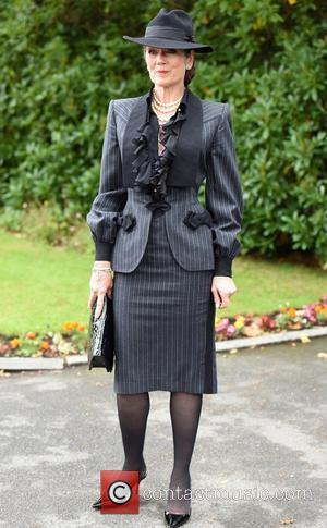 Lorraine Chase - The Funeral of Cilla Black at St Mary's Church, Woolton - Liverpool, United Kingdom - Thursday 20th...