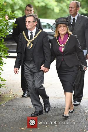 Guests - The Funeral of Cilla Black at St Mary's Church, Woolton - Liverpool, United Kingdom - Thursday 20th August...