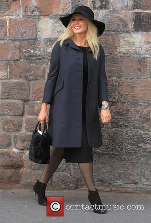 Carol Vorderman - The funeral of Cilla Black at St Mary's Church, Woolton - Liverpool, Cheshire, United Kingdom - Thursday...