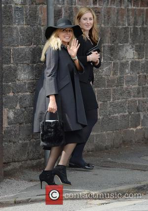 Carol Vorderman - The Funeral of Cilla Black at St Mary's Church, Woolton - Liverpool, United Kingdom - Thursday 20th...