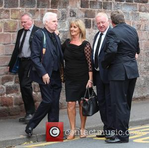 Les Dennis, Ted Robbins , Mike Mcartney - The funeral of Cilla Black at St Mary's Church, Woolton at St...