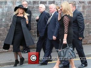 Les Dennis, Ted Robbins, Mike Mcartney , Carol Vorderman - The funeral of Cilla Black at St Mary's Church, Woolton...