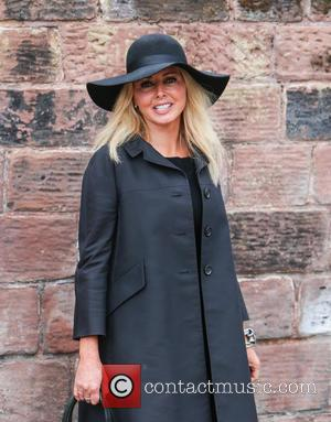 Carol Voderman - The funeral of Cilla Black at St Mary's Church, Woolton - Liverpool, United Kingdom - Thursday 20th...
