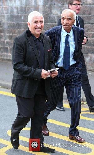 Kenny Lynch - The funeral of Cilla Black at St Mary's Church, Woolton - Liverpool, United Kingdom - Thursday 20th...