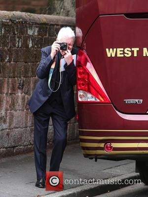 Mike McGear - The funeral of Cilla Black at St Mary's Church, Woolton - Liverpool, United Kingdom - Thursday 20th...