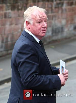 Les Dennis - The funeral of Cilla Black at St Mary's Church, Woolton - Liverpool, United Kingdom - Thursday 20th...