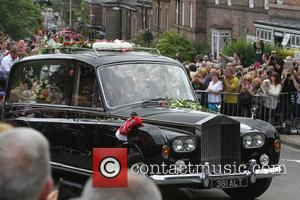 Cilla Black's funeral cortege - The funeral of Cilla Black at St Mary's Church, Woolton - Liverpool, United Kingdom -...