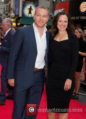 Chris Hoy , Sara Hoy - U.K. premiere of 'The Bad Education Movie' - Arrivals at The Vue,Leicester Square -...