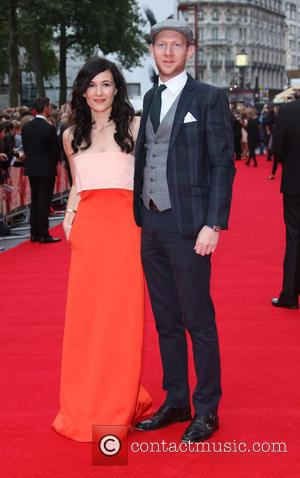 Sarah Solemani , husband - 'The Bad Education Movie' UK premiere held at Vue - Arrivals - London, United Kingdom...