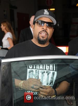 Ice Cube - Ice Cube at BBC Radio 1 to promote new movie Straight Outta Compton. - London, United Kingdom...
