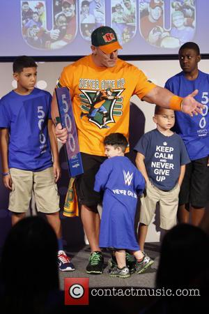 John Cena - Make-A-Wish Foundation celebrates WWE superstar John Cena's 500th granted wish at Dave & Busters Times Square at...