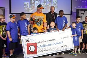 John Cena , David Williams - Make-A-Wish Foundation celebrates WWE superstar John Cena's 500th granted wish at Dave & Busters...