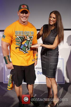 John Cena , Stephanie McMahon - Make-A-Wish Foundation celebrates WWE superstar John Cena's 500th granted wish at Dave & Busters...