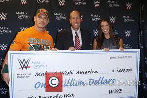 John Cena, David Williams , Stephanie McMahon - Make-A-Wish Foundation celebrates WWE superstar John Cena's 500th granted wish at Dave...