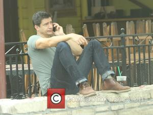Ken Marino - Ken Marino stops for coffee at Starbucks in Hollywood - Los Angeles, California, United States - Friday...