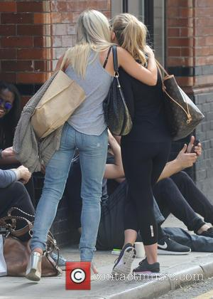 Kristina Rihanoff , Ola Jordan - Strictly Come Dancing rehearsals in London at Strictly Come Dancing - London, United Kingdom...