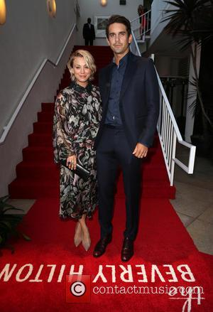 Kaley Cuoco , Ryan Sweeting - The Beverly Hilton 60th 'Diamond' Anniversary Celebration at the Aqua Star Pool - Inside...