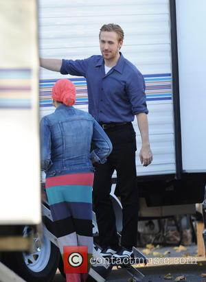 Ryan Gosling - Ryan Gosling and Emma Stone on the set of 'La La Land' - Santa Clarita, California, United...